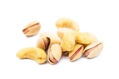 Pile of roasted pistachios Stock Photos