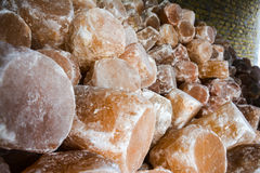 Pile of Rock Salt Lamps Stock Photos