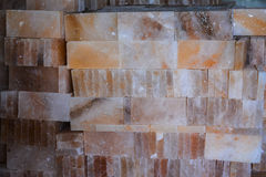 Pile of Rock Salt Tiles Stock Image