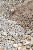 Pile of rock and stone with soil Royalty Free Stock Photography