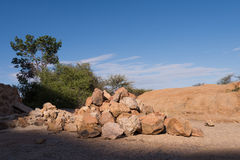 Pile of Rocks. Rocks from area gathered into pile Royalty Free Stock Photography