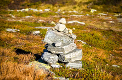 Pile of rocks in autumn landscape royalty free stock images