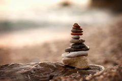 Pile of rocks Stock Images