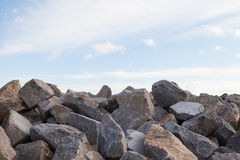 Pile of Rocks Boulders for Construction Royalty Free Stock Images