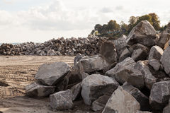 Pile of Rocks Boulders for Construction Royalty Free Stock Photography