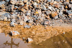 Pile of rocks. for construction. Royalty Free Stock Photo