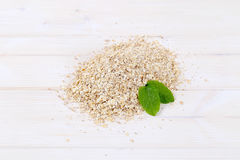 Pile of rolled oats Royalty Free Stock Photo