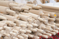 Pile of rolling pins Stock Image