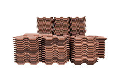 Pile of roofing tiles packaged. Stock Photo