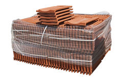 Pile of roofing tiles packaged. Stock Photos