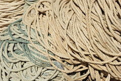 Pile of Ropes Stock Photo