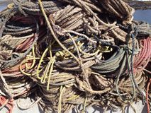Pile of ropes Royalty Free Stock Photos