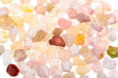 Pile of rough natural uncut Spinel gemstone Stock Image