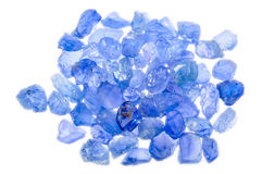 A pile of rough uncut sapphires Stock Image