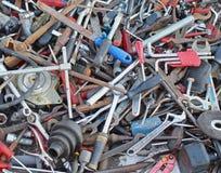 Pile rouillée d'outils Image libre de droits