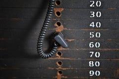 Pile rouillée de poids Photographie stock