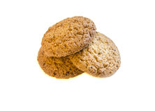 Pile of round cookies isolated over the white background. ! Stock Photography