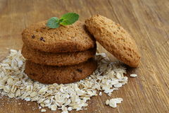 Pile of round oatmeal cookies Stock Photography