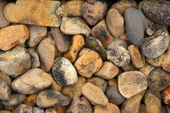 Pile of round pebble stones Royalty Free Stock Photos
