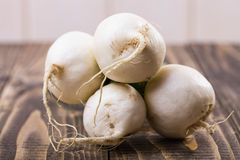 Pile of round root crops Stock Photos