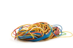 Pile of rubber bands. Royalty Free Stock Photography