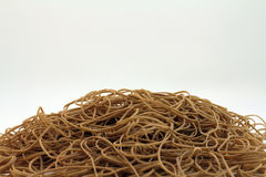 Pile of rubber bands Royalty Free Stock Photos