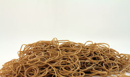 Pile of rubber bands Stock Image