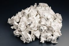 Rubbish Paper Balls Royalty Free Stock Photo