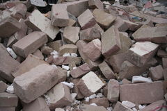 Pile of rubble Royalty Free Stock Photo