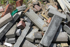 Pile of rubble Royalty Free Stock Images