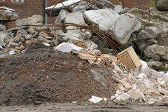 Pile of rubble Stock Image