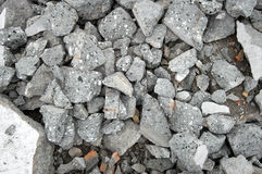 Pile of rubble of stones and concrete. Background Royalty Free Stock Images