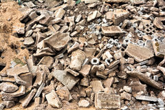 Pile of rubble Stock Photography