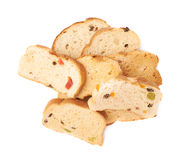 Pile of rusks isolated over the white background Stock Image