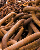 Pile of rusty chains Stock Photography