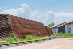 Pile of Rusty Railway Stock Photography