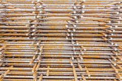 Pile of rusty reinforcing mesh, armature Stock Photos