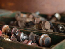 Pile of Rusty Screws Royalty Free Stock Photos