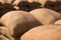 Pile of sacks Stock Image