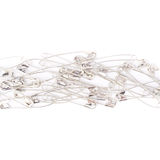 Pile of safety pins isolated on white background Royalty Free Stock Image