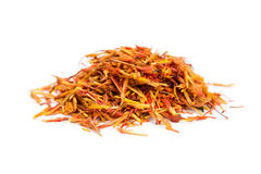 Pile saffron spice Stock Photography