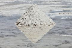 Pile of salt Royalty Free Stock Images