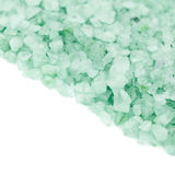 Pile of salt crystals isolated Stock Images