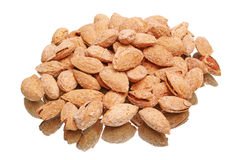 Pile salted almonds Royalty Free Stock Image