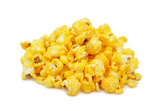 Pile of salted popcorn, isolated Royalty Free Stock Photography