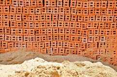 A pile of sand and Brick Royalty Free Stock Photography