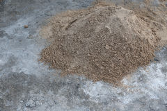 Pile sand Stock Photography