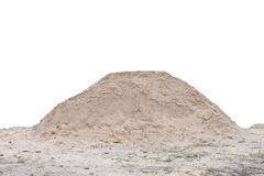 A pile of sand, clean and isolated.  royalty free stock images