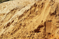 Pile of sand for construction. Stock Photo