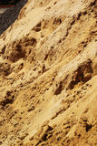 Pile of sand for construction. Royalty Free Stock Photography